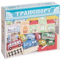 """Конструктор деревянный """"Транспорт"""" (48 деталей)"""