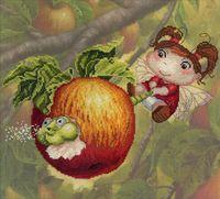 "Вышивка крестом ""Яблочная фея"" (250x320 мм)"