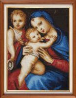 """Вышивка крестом """"Мадонна с младенцем"""" (230х310 мм)"""