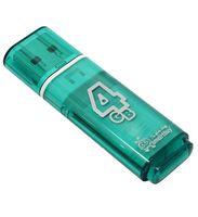 USB Flash Drive 4Gb SmartBuy Glossy series (Green)