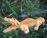 """Сборная деревянная модель """"Крокодил"""""""
