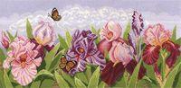 """Вышивка крестом """"Торжество цветов. Ирисы"""" (540x240 мм)"""