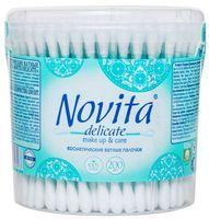 """Ватные палочки """"Novita Delicate"""" (банка; 200 шт.)"""