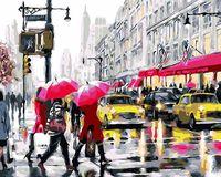 "Картина по номерам ""На светофоре. Нью-Йорк"" (400х500 мм)"