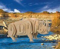 """Сборная деревянная модель """"Белый носорог"""""""