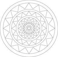 """Трафарет для рисования песком """"Мандала №15"""" (21x21 см)"""