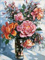 "Картина по номерам ""Натюрморт с розами"" (400х300 мм)"
