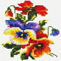 "Алмазная вышивка-мозаика ""Цветочки"" (200х200 мм)"