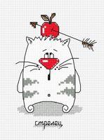 """Вышивка крестом """"Кошачий гороскоп. Стрелец"""""""