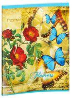 """Тетрадь полуобщая в клетку """"Ассорти из цветов и бабочек"""" (48 листов; в ассортименте)"""