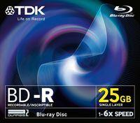 Диск BD-R 25Gb 6x TDK Jewel case