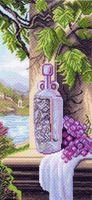 """Канва с нанесенным рисунком """"Натюрморт с виноградом"""""""