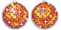 """Вышивка крестом """"Шар. Янтарное великолепие"""" (90х90 мм)"""