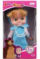 """Музыкальная кукла """"Маша и Медведь. Маша в голубом платье"""" (арт. 83033BD)"""