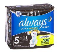"""Гигиенические прокладки """"Always Night Single"""" (6 шт.)"""