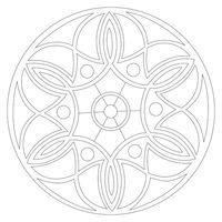 """Трафарет для рисования песком """"Мандала №5"""" (21x21 см)"""