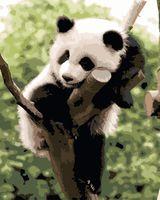 "Картина по номерам ""Панда на дереве"" (400х500 мм)"