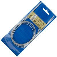 Спицы для вязания круговые (металл; 3.0 мм; с металлической леской; арт. MKX)