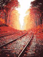 """Картина по номерам """"Железная дорога"""" (400х500 мм)"""