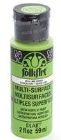 "Краска акриловая ""FolkArt Multi-Surface"" (лайм, 59 мл; арт. PLD-02914)"