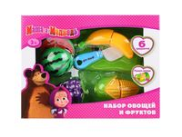 """Игровой набор """"Маша и Медведь. Овощи и фрукты"""" (6 шт; арт. B847986-R)"""