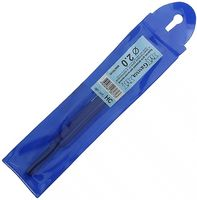 Крючок для вязания с пластиковым колпачком (металл; 2.0 мм)