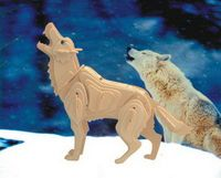 """Сборная деревянная модель """"Волк"""""""