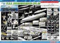 """Авианосец """"U.S.S. Independence CVL-22"""" (масштаб: 1/350)"""