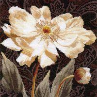 "Вышивка крестом ""Белые цветы. В объятиях света"" (250х250 мм)"