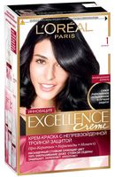 """Крем-краска для волос """"Excellence"""" (тон: 1, черный)"""