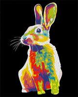 "Картина по номерам ""Радужный кролик"" (500х400 мм)"