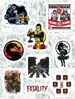 """Набор глянцевых наклеек №161 """"Mortal Kombat"""""""