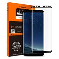 """Защитное стекло Spigen для Galaxy S8 """"Glas.tR Curved"""", черный (1шт) (565GL21777)"""