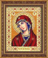 """Вышивка бисером """"Пресвятая Богородица Огневидная"""" (200х250 мм)"""
