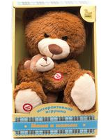 """Мягкая музыкальная игрушка """"Мама и малыш. Медведица"""""""