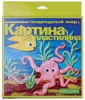 """Картина из пластилина """"Подводный мир"""""""