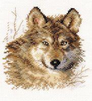"""Вышивка крестом """"Волк"""" (120x120 мм)"""