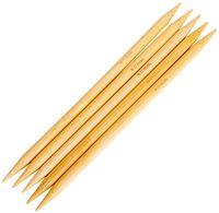 Спицы для вязания чулочные (бамбук; 8 мм; 5 шт.)