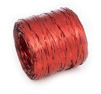 Рафия декоративная (5 м; металлизированная красная)
