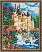 "Картина по номерам ""Лебеди у замка"" (400х500 мм)"
