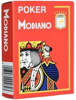 """Карты для покера """"Modiano Poker"""" (красная рубашка)"""