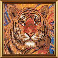 """Вышивка бисером """"Тигр"""" (260х260 мм)"""