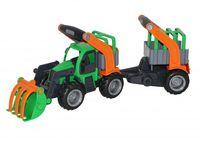 """Трактор-погрузчик с полуприцепом для животных """"КонсТрак"""""""