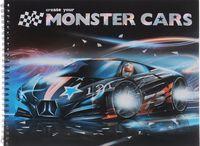 """Раскраска """"Create Your Monster Cars 2"""" (с наклейками)"""