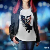 "Футболка женская ""Бэтмен и Джокер"" XL (046)"