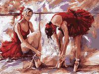 "Картина по номерам ""В танцевальном зале"" (400х500 мм)"