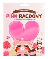 "Патчи для кожи вокруг глаз и скул ""Pink Racoony Hydrogel Eye & Cheek Patch"" (3 шт.)"