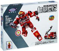 """Конструктор """"XingBao. Трансформер-пожарная машина 2 в 1"""" (779 деталей)"""