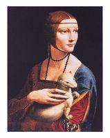 """Магнит на холодильник """"Леонардо да Винчи. Дама с горностаем"""""""