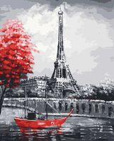 "Картина по номерам ""Чёрно-белый Париж"" (400х500 мм)"